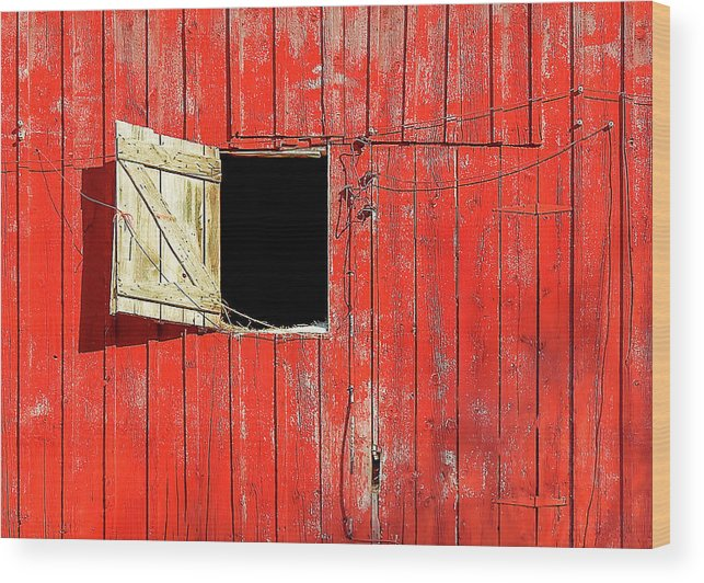 Barn Door Wood Print featuring the photograph Barn Door Open by Todd Klassy