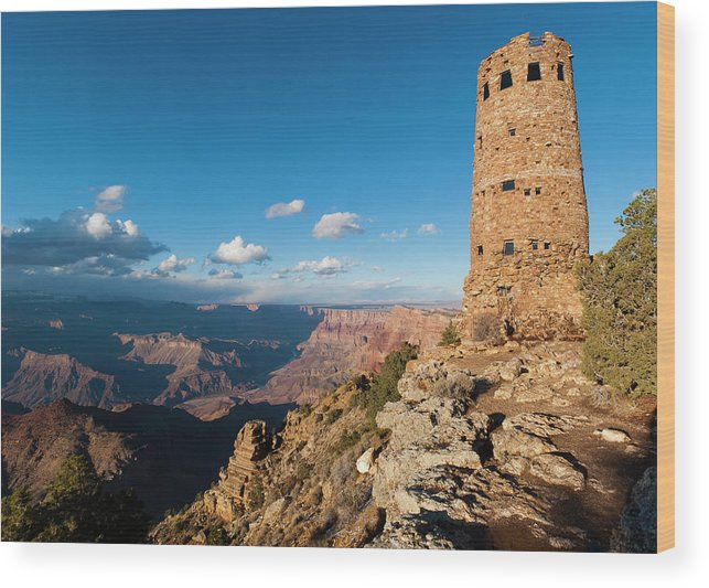 Desert View Watchtower Grand Canyon Wood Print By Marc Shandro
