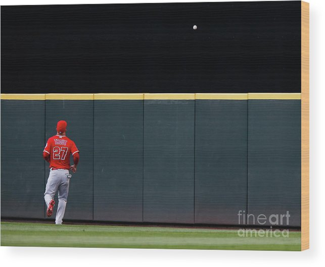 People Wood Print featuring the photograph Los Angeles Angels Of Anaheim V by Lindsey Wasson