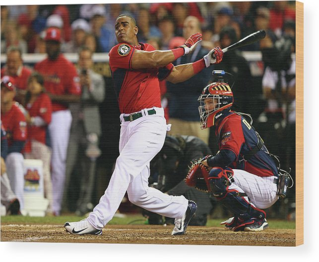 Yoenis Cespedes Wood Print featuring the photograph Yoenis Cespedes by Elsa
