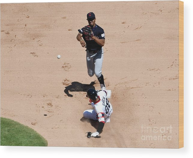 People Wood Print featuring the photograph Francisco Lindor by David Banks
