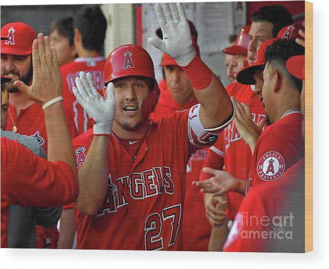 People Wood Print featuring the photograph James Shields And Mike Trout by Jayne Kamin-oncea