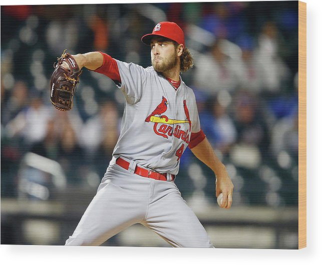 St. Louis Cardinals Wood Print featuring the photograph Kevin Siegrist by Jim Mcisaac