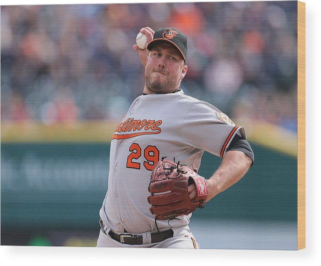 Ninth Inning Wood Print featuring the photograph Tommy Hunter by Leon Halip
