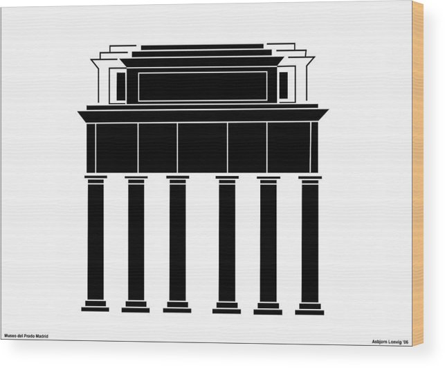 Museo Del Prado Wood Print featuring the digital art Museo Del Prado by Asbjorn Lonvig