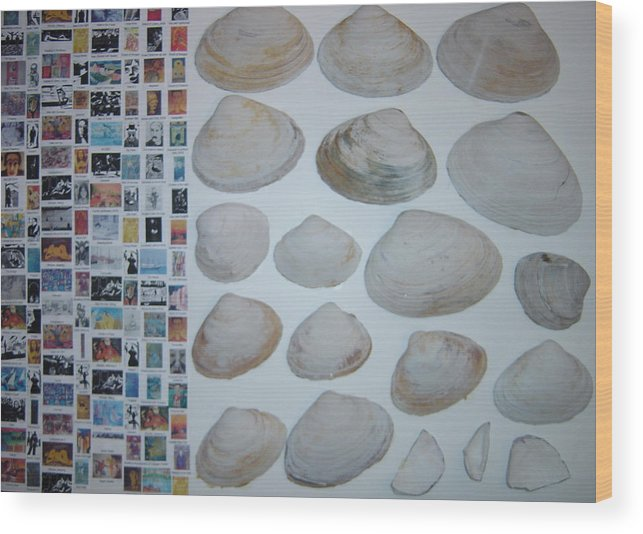 Wood Print featuring the painting Images And Shells by Biagio Civale