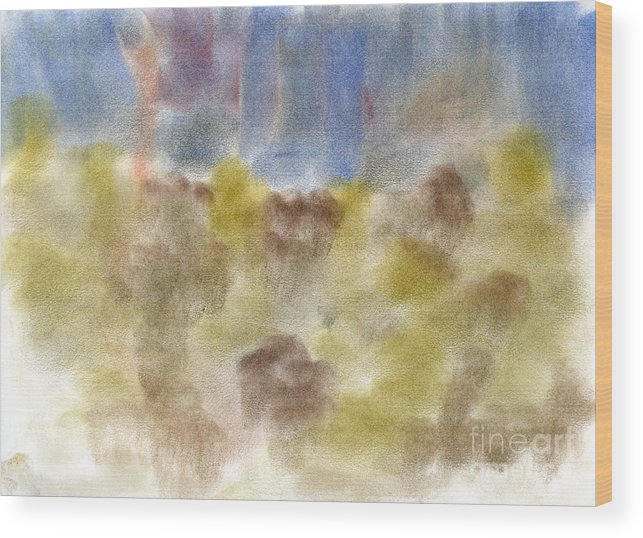 Wood Print featuring the pastel Untitled by Taylor Webb