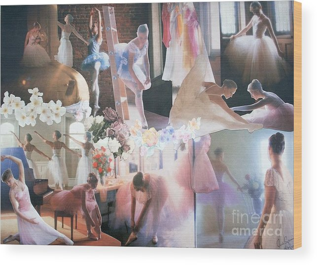 Pictures Of Ballarinas At Work Or In Performance; Ballet; Stage Wood Print featuring the mixed media Ballarina Beauty - Sold by Judith Espinoza