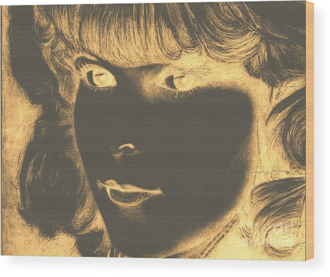 Face Wood Print featuring the digital art Brighter by Susan Saver