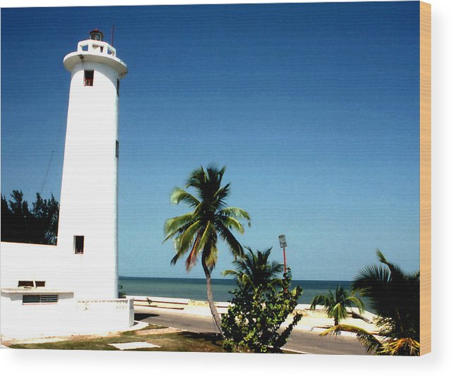 Still Lifes; Carribbean; Light House; Fine Art. Wood Print featuring the photograph Carribbean Lighthouse by Robert Rodvik