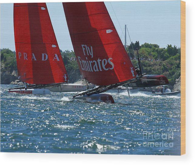 Emeirates Wood Print featuring the photograph Flying Hulls by Butch Lombardi