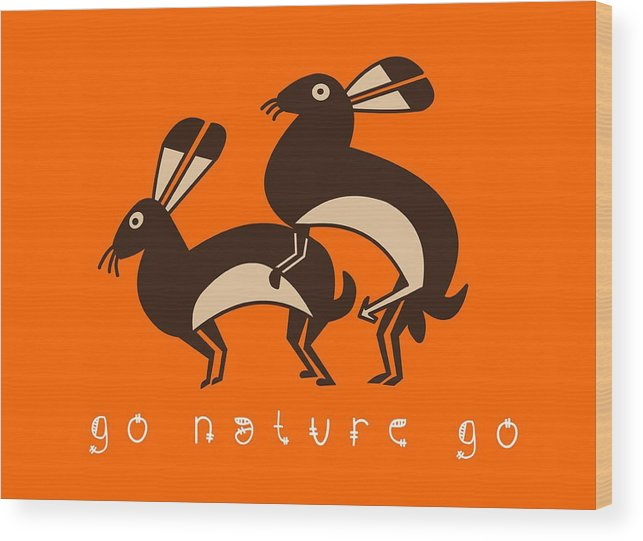 Rude Wood Print featuring the painting Go Nature Go by Luke ODonnell