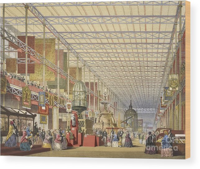 Great Exhibition Of 1851 Wood Print featuring the photograph Great Exhibition Of 1851, British Nave by British Library
