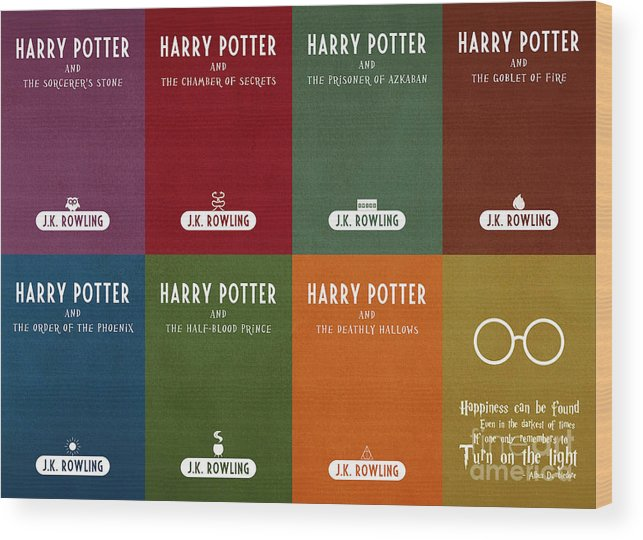 picture about Harry Potter Printable Book Covers known as Harry Potter Collection Ebook Go over Video clip Poster Artwork 1 Wooden Print