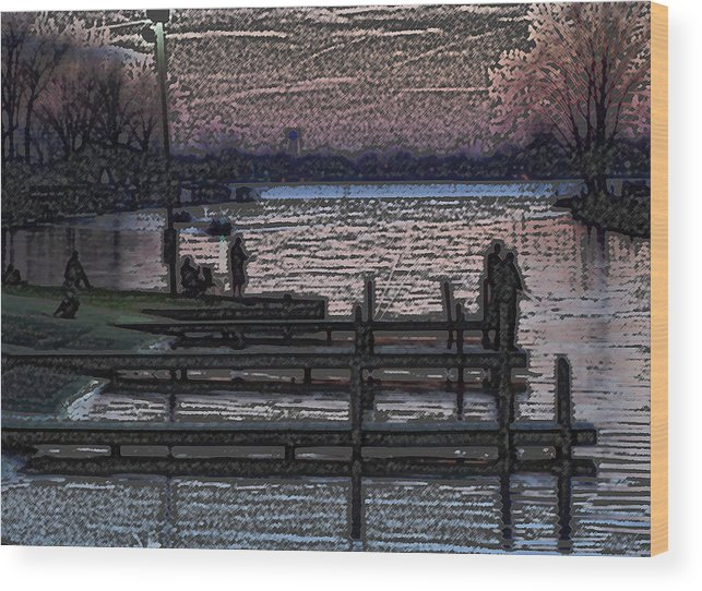 Fishing Wood Print featuring the photograph Indian Lake Evening by Doug Hubbard