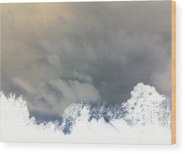 Photography Wood Print featuring the photograph Lines In The Sky by Max Mullins
