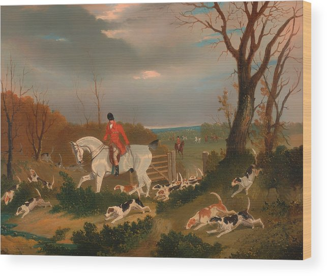 Painting Wood Print featuring the painting The Suffolk Hunt by Mountain Dreams