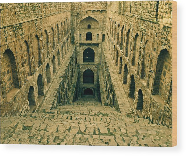 Agrasen Ki Baoli Wood Print featuring the photograph Agrasen Ki Baoli by Sandeep Pandey