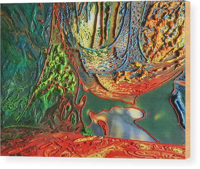 Acrylic Wood Print featuring the painting Birth Of Life by Erik Tanghe