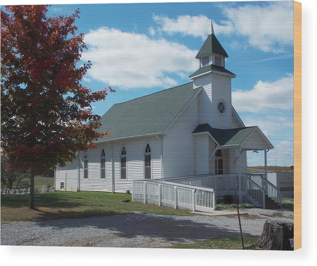 Wood Print featuring the photograph Fall Into Church by Regina McLeroy
