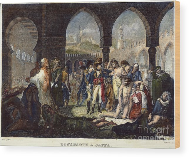 1799 Wood Print featuring the photograph Napoleon In Jaffa, 1799 by Granger