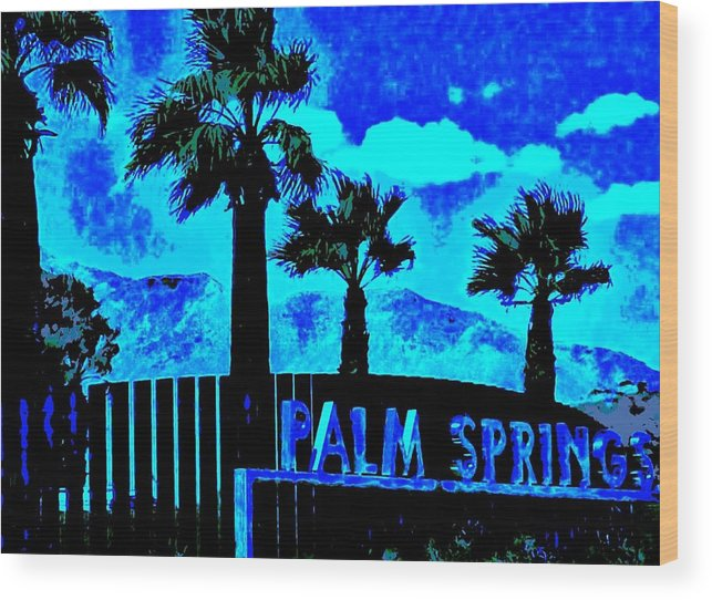 Palm Springs Wood Print featuring the photograph Palm Springs Gateway Two by Randall Weidner