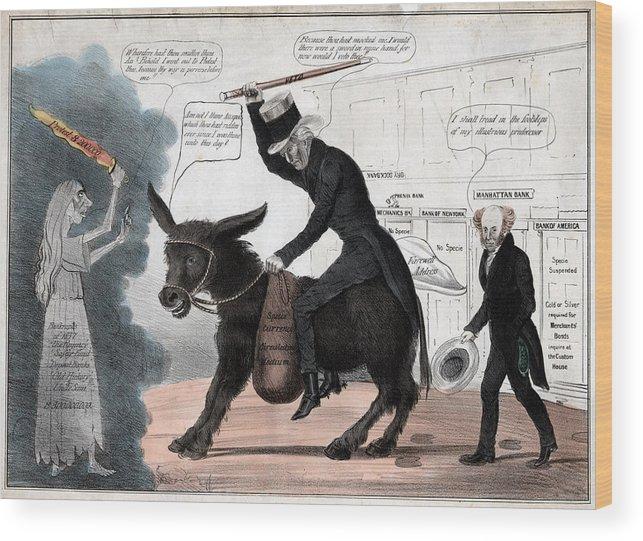 1830s Wood Print featuring the photograph The Modern Balaam And His Ass, Showing by Everett