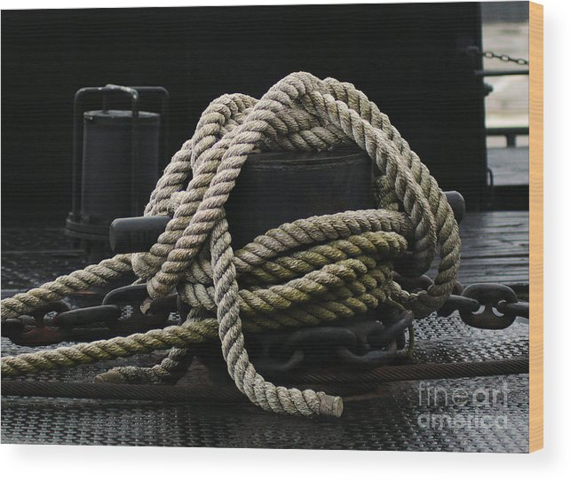 Nautical Wood Print featuring the photograph Bollard by Chuck Kugler