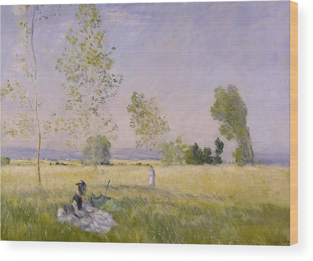 Claude Monet Wood Print featuring the painting Summer by Claude Monet