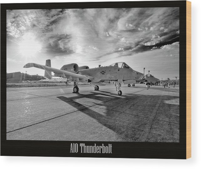 Airshow Wood Print featuring the photograph A10 Thunderbolt by Greg Fortier