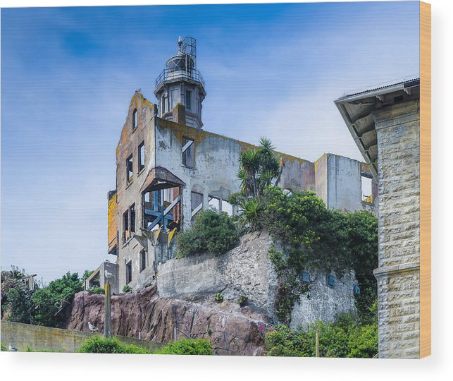 Alcatraz Wood Print featuring the photograph Alcatraz by Janet Kopper