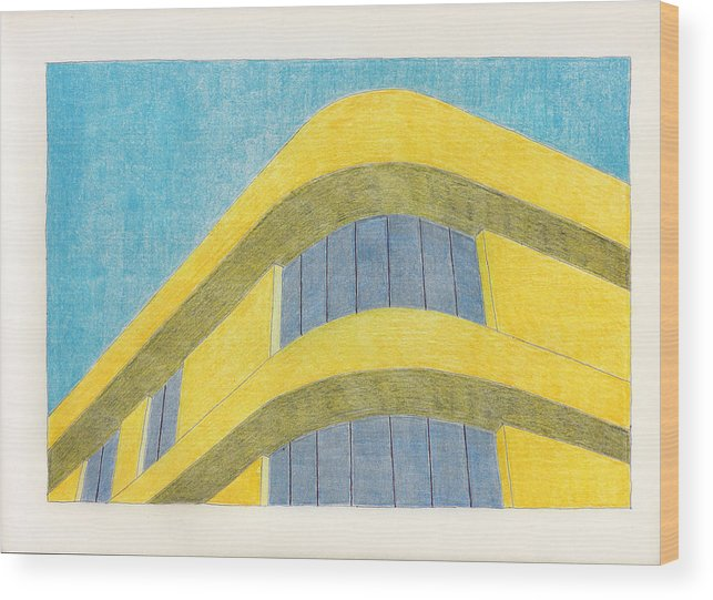 Architecture Wood Print featuring the drawing Art Deco by Eric Forster