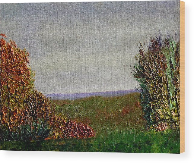 Plein Air Wood Print featuring the painting Bcsp 13 by Stan Hamilton