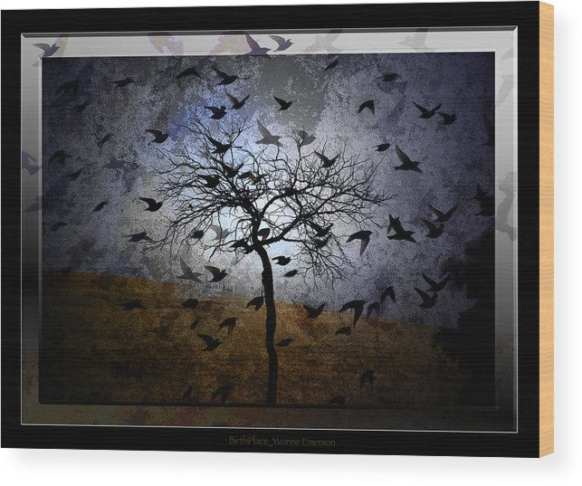 Myth Wood Print featuring the photograph Birthplace by Yvonne Emerson