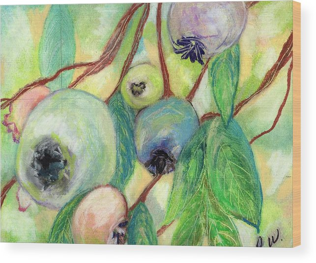 Blueberries Wood Print featuring the painting Blueberries by Pamela Wilson