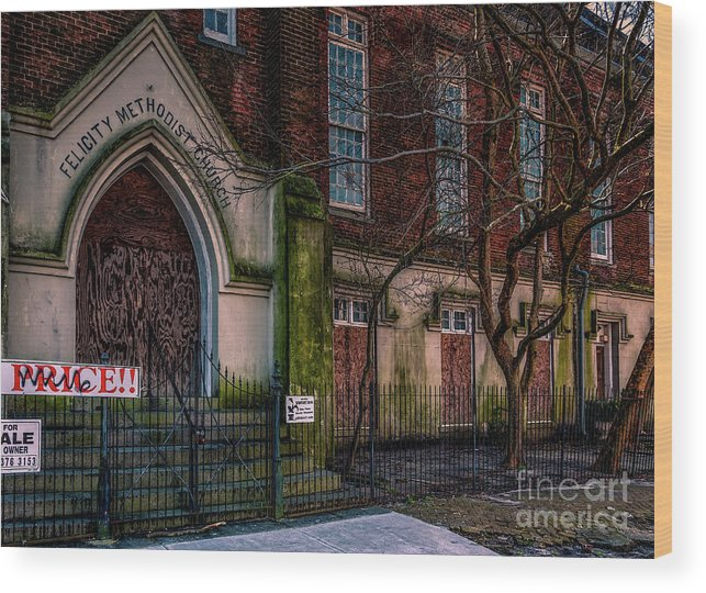 Church Wood Print featuring the photograph Buy Felicity Methodist - Nola by Kathleen K Parker