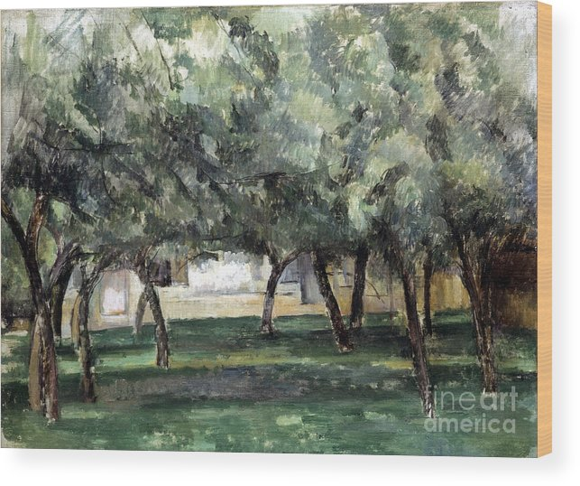 19th Century Wood Print featuring the photograph Cezanne: Le Clos Normand by Granger