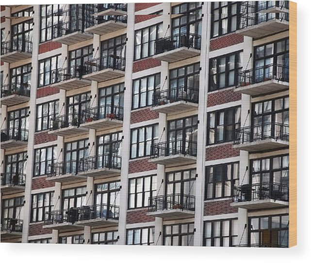 Landscape Wood Print featuring the photograph City Living by M Ryan