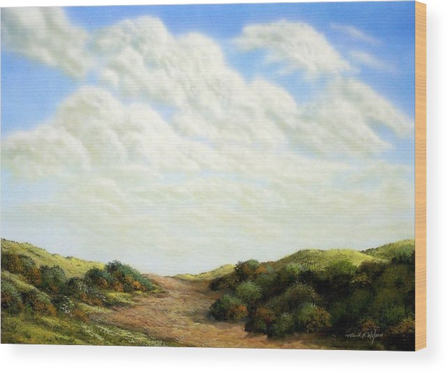 Landscape Wood Print featuring the painting Clouds Of Spring by Frank Wilson