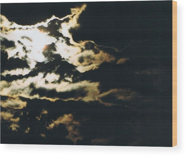 Moonlight Wood Print featuring the photograph Cloudscape I by Curtis Schauer