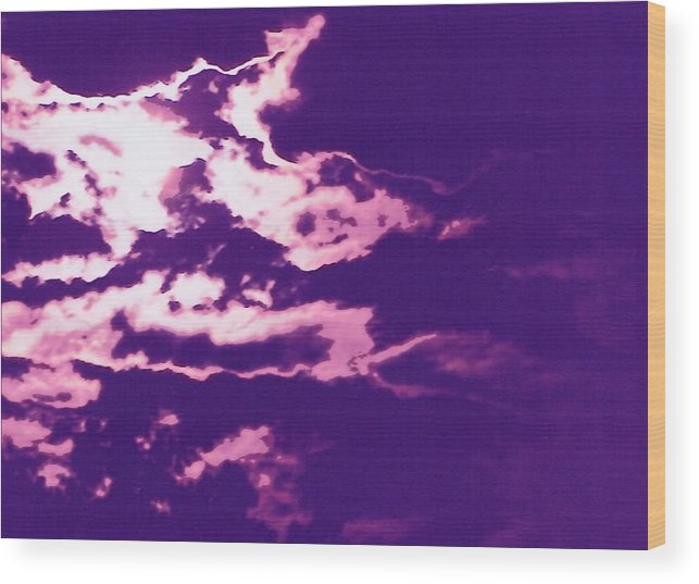 Moon Wood Print featuring the photograph Cloudscape II by Curtis Schauer