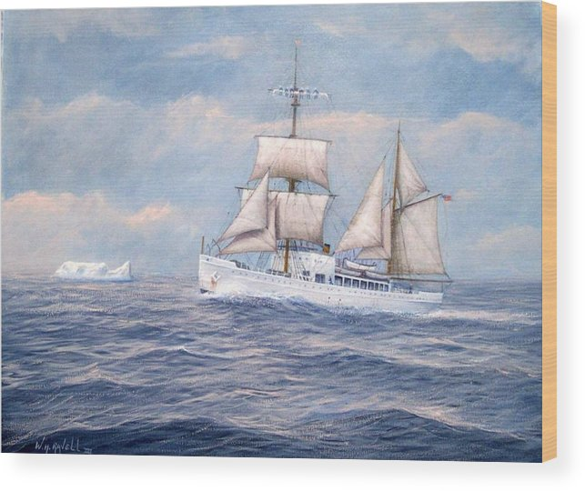 Coast Guard Wood Print featuring the painting Coast Guard Cutter Northland by William H RaVell III