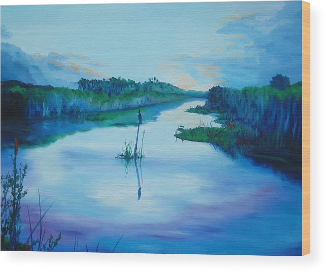 Sunrise Wood Print featuring the painting Early Morn by Blaine Filthaut