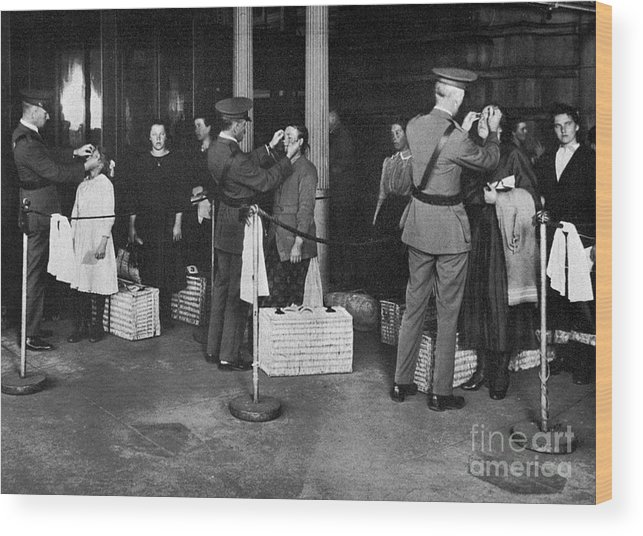 1910s Wood Print featuring the photograph Ellis Island: Examination by Granger
