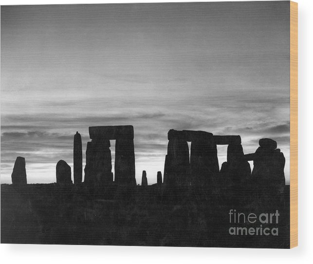 Ancient Wood Print featuring the photograph England: Stonehenge by Granger