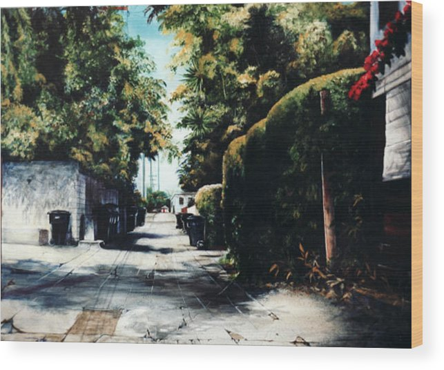 Cityscapes Wood Print featuring the painting Foliage by Duke Windsor
