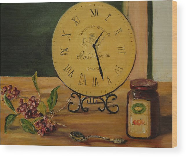 Konkol Wood Print featuring the painting Friendship Is Timeless by Lisa Konkol