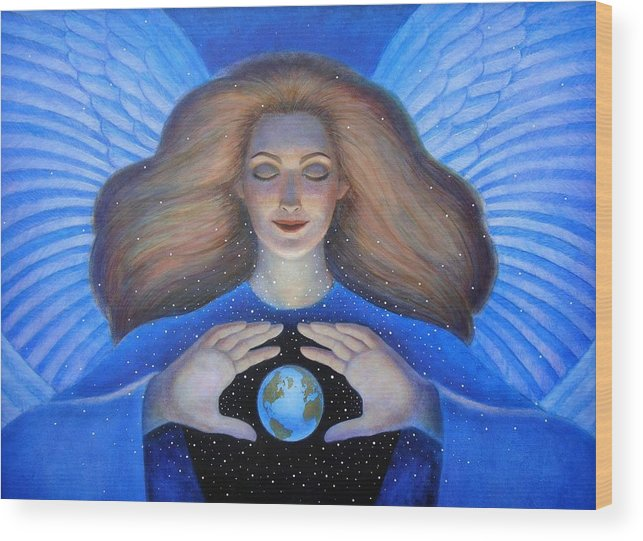 Goddess Wood Print featuring the painting Heart Of Creation by Sue Halstenberg