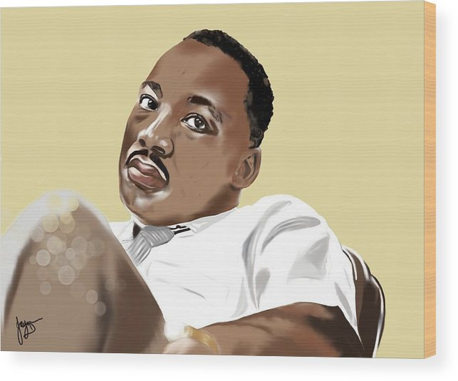 Contemporary Portrait Wood Print featuring the digital art I Have A Dream by Jayne Hadlow