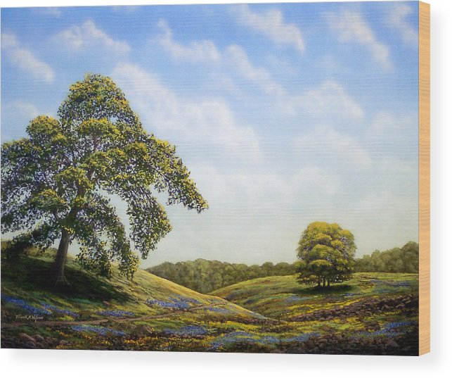Landscape Wood Print featuring the painting In Bloom by Frank Wilson